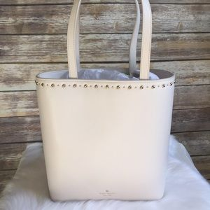 Kate spade hayes Street studded Hattie tote Cement